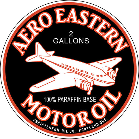 Aero Eastern Motor Oil Gasoline Sign Round 14