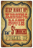 Step Right Up Kissing Booth Circus Sign