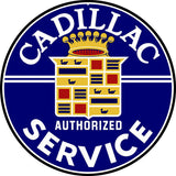 Cadillac Service Sign 18 Round
