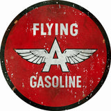 Vintage Flying Gasoline Sign Round 14