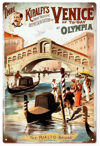 Vintage Imre Kiralfys Venice Of To-Day Sign