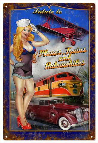Vintage Salute To Planes Trains And Automobiles