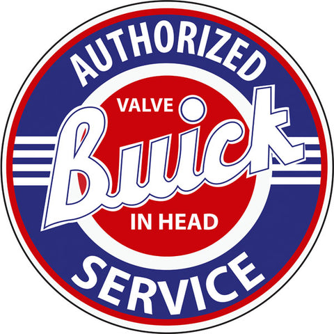 Authorized Buick Service Sign Round 14