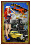 Vintage Salute To Planes Trains And Automobiles Sign 16x24