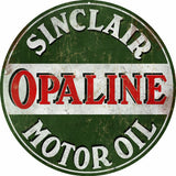 Vintage Sinclair Motor Oil Sign Round 14