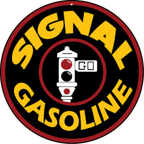 Signal Gasoline Sign Round 14