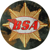 Vintage BSA Motorcycle Sign Round 14