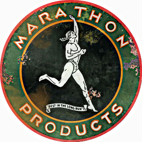 Vintage Old School Marathon Products Sign 14 Round