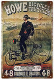 Old Vintage Howe Bicycles Sign