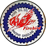 Vintage Firebird Gasoline Sign Round 14