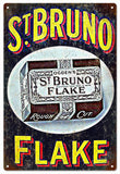 Vintage St.Bruno Flake Cigar Sign