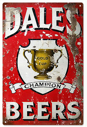 Vintage Looking Dales Beer Sign