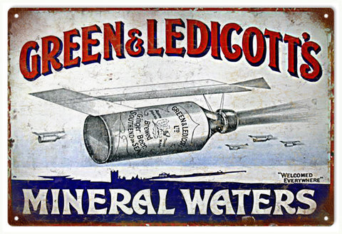 Vintage Green And Ledicotts Water Sign
