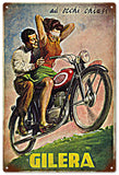 Vintage Gilera Motorcycle Sign