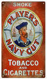 Vintage Players Navy Cut Tobacco Sign 8x14