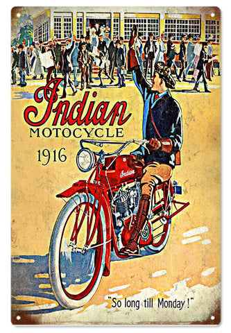 Vintage Indian Motocycle Sign