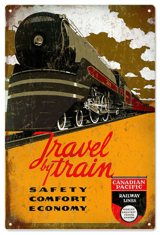 Vintage Canadian Pacific Railroad Sign