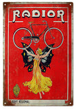 Vintage Radior Fairy And Bike Sign