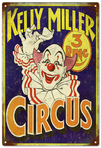Vintage Kelly Miller Circus Sign