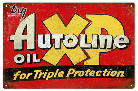Vintage XP Autoline Gasoline Sign