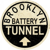 Vintage Brooklyn Tunnel Sign Round 14