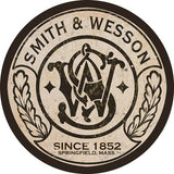 Vintage Smith And Wesson Gun Sign 14 Round