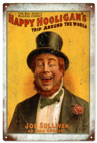 Vintage Happy Hooligans Circus Sign