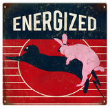 Vintage Energized Bunny Sign 12x12