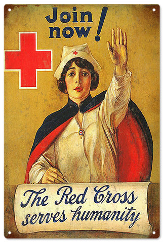 Vintage Red Cross Medical Sign