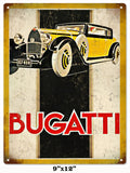 Vintage Bugatti Automobile Sign