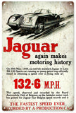 Vintage Jaguar Automobile Sign