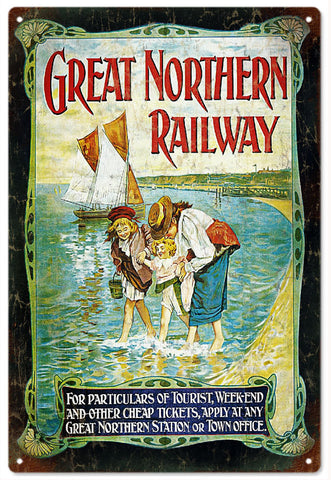 Vintage Great Northern Railroad Sign