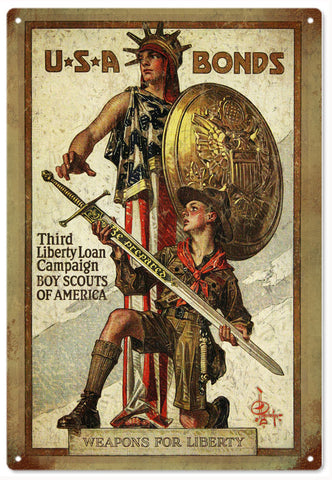 Vintage Boy Scouts Of America Sign