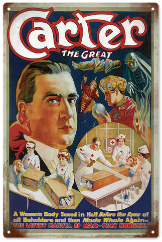 Vintage Carter The Great Magician Sign