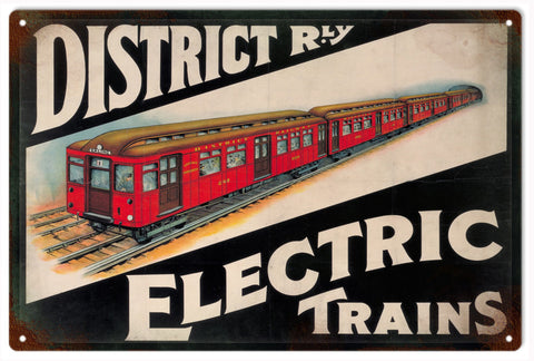 Vintage Electric Trains Sign