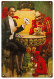 Vintage Scull Magician Sign