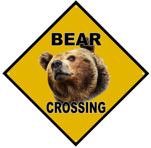 Bear Crossing Sign 12x12