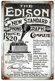 Vintage The Edison Phonograph Sign