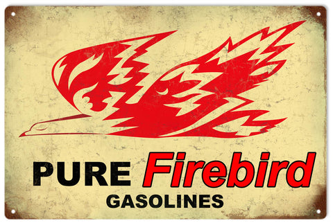 Vintage Firebird Gasoline Sign