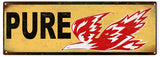 Vintage Pure Gasoline Sign 6x18