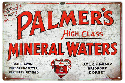 Vintage Mineral Water Sign