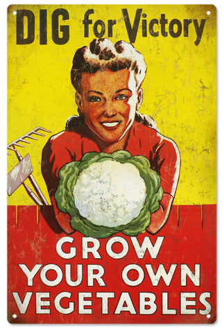 Vintage grow Your Own Vegetables Sign