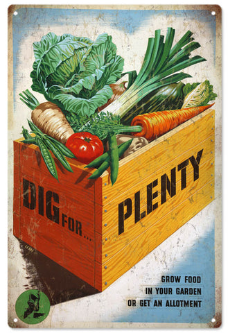 Vintage Grow Food Sign