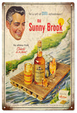 Vintage Style Sunny Brooks Whiskey Sign