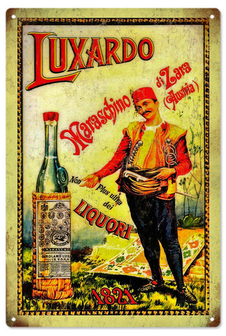 Vintage Luxardo Liquor Sign