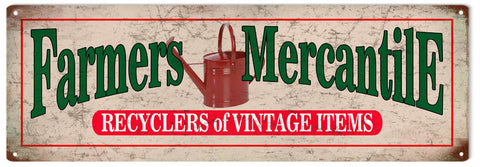 Vintage Farmers Mercantile Sign