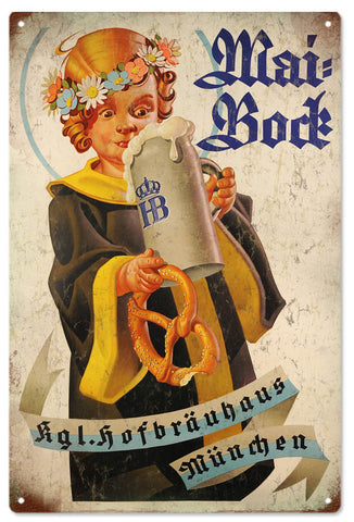 Vintage Hofbrauhaus Beer Sign