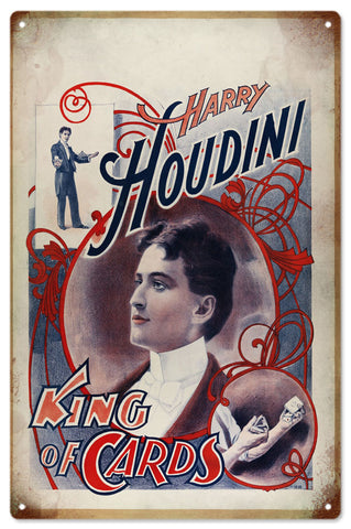 Harry Houdini Magician Sign