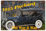 Vintage 1915 Old Packard Automobile Sign