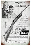 Vintage BSA .22 Airsporter Riffle Sign